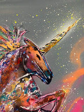 Load image into Gallery viewer, Live boldly / signature unicorn / gray