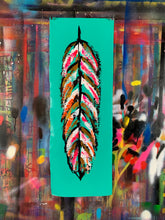 Load image into Gallery viewer, Go fly / signature feather / aqua