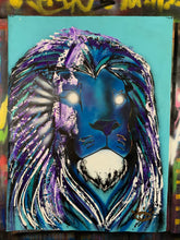Load image into Gallery viewer, Inner royalty / clarity lion / rapids blue