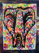 Load image into Gallery viewer, Keep the heart at peace / signature elephant / white
