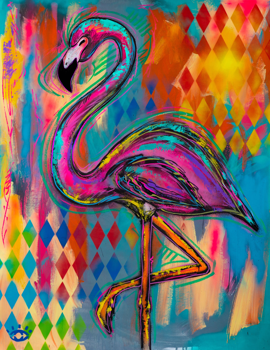 PRINT: Stay  balanced / Flamingo