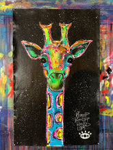 Load image into Gallery viewer, Keep your head up / cosmic black giraffe