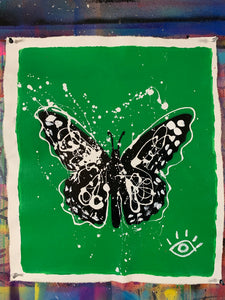 Right where you need to be/ green butterfly