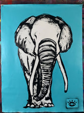 Load image into Gallery viewer, Amazing things / light blue elephant