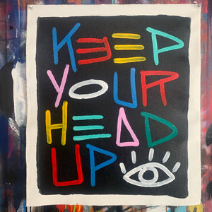 Keep your head up / color code + black 2