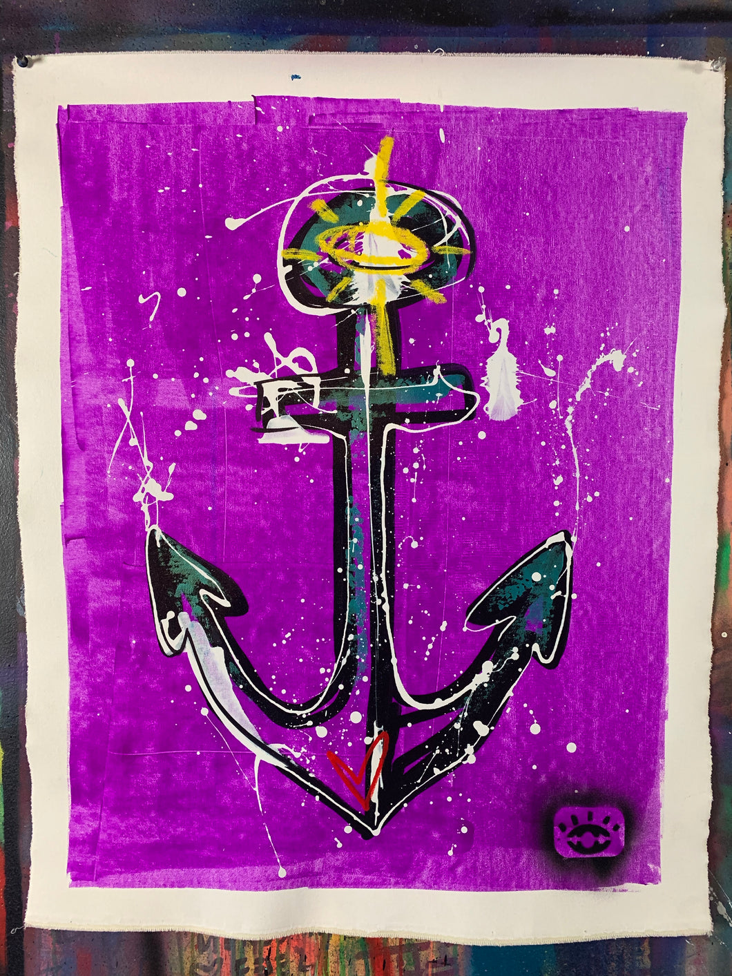 Light anchor / purple