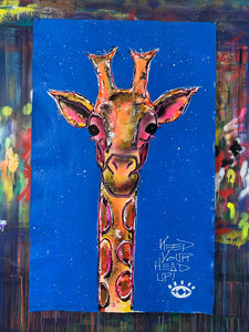 Keep your head up / cosmic blue giraffe