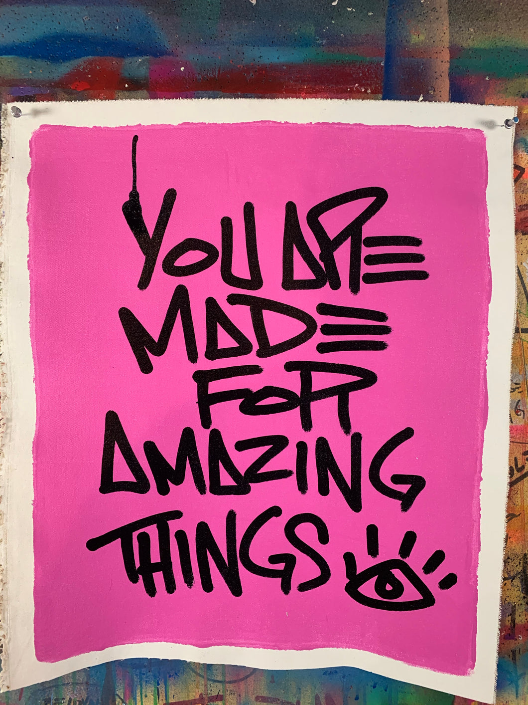 Amazing things mantra / cosmic pink