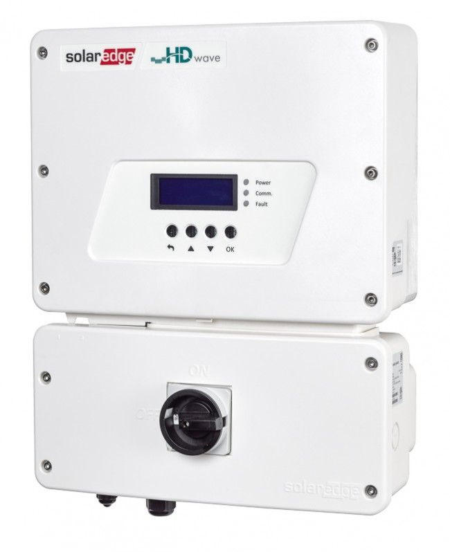 SolarEdge 3.0 KW, 1Ø Grid Tied Inverter, AFCI HD WAVE