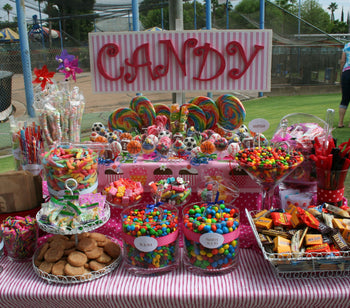 How To Set Up A Candy Buffet Bar for a Baby Shower