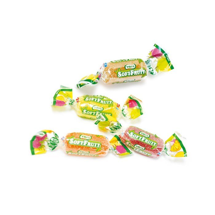 Vidal Assorted Soft Fruit  Jelly Candy Wrapped 2.2 lb Bag
