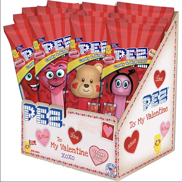 Pez Valentine Dispensers 12ct-online-candy-store-31091