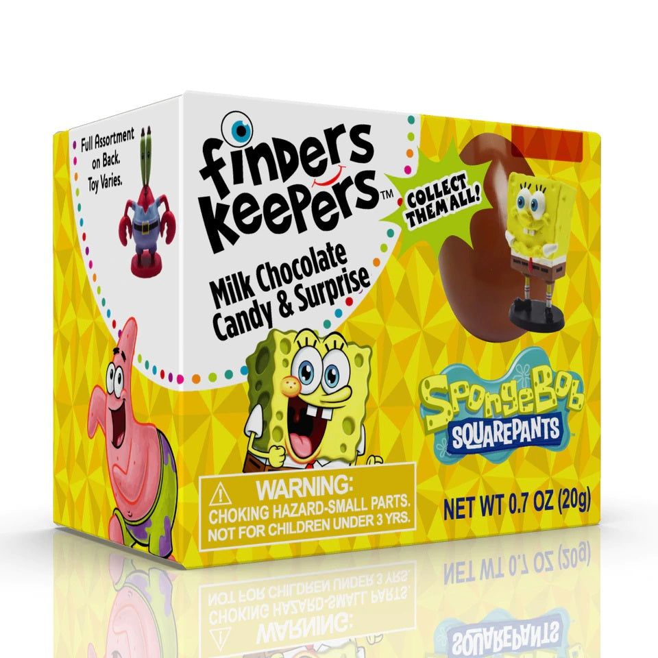 Topps Spongebob Finder Keepers Candy Egg 6ct
