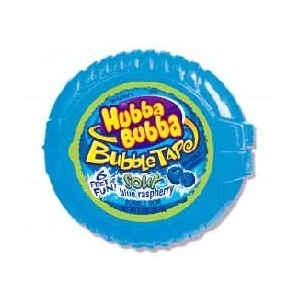 Hubba Bubba Bubble Tape Sour Blue Raspberry 12ct