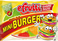 Efrutti Share Size Mini Burger Gummi Candy 1.4oz bag 12ct