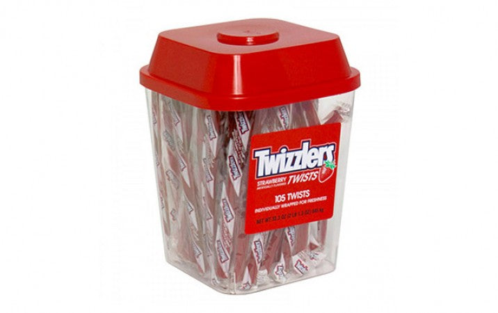 Hershey Twizzlers Strawberry Wrapped Canister 105ct-online-candy-store-S450880