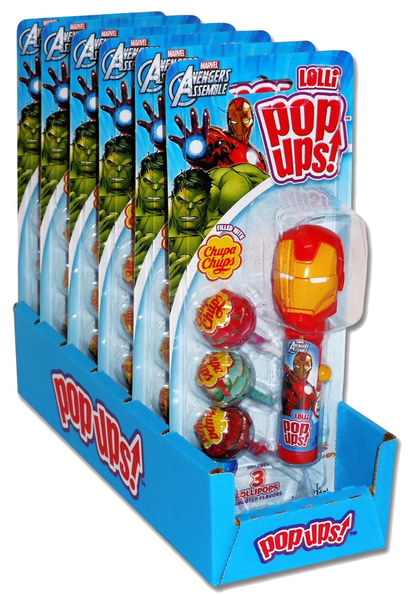 Avengers Pop Up Lollipops Blister Pack 6ct-online-candy-store-5001