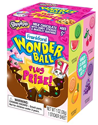 Frankford Shopkins Wonder Ball Plus Toys 10ct
