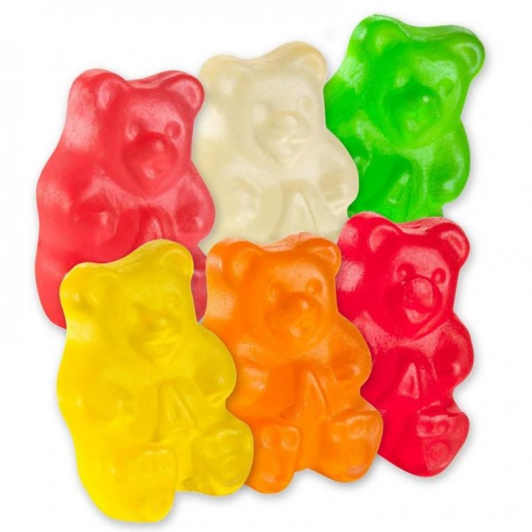 Albanese 6 Flavor Wild Fruit Gummy Bears 5lb-online-candy-store-50100