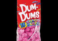Dum Dums Lollipops Color Party Hot Pink Watermelon Flavor 12.8 oz.Bag 4ct