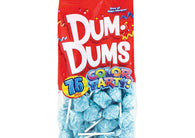 Dum Dums Lollipops Color Party Light Blue Blue Raspberry Flavor 12.8 oz.Bag 4ct