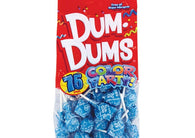 Dum Dums Lollipops Color Party Ocean Blue Cotton Candy Flavor 12.8 oz Bag 4ct