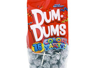 Dum Dums Lollipops Color Party Silver Tropical Berry Flavor 12.8 oz Bag 4ct