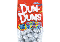Dum Dums Lollipops Color Party White Birthday Cake Flavor 12.8 oz Bag 4ct