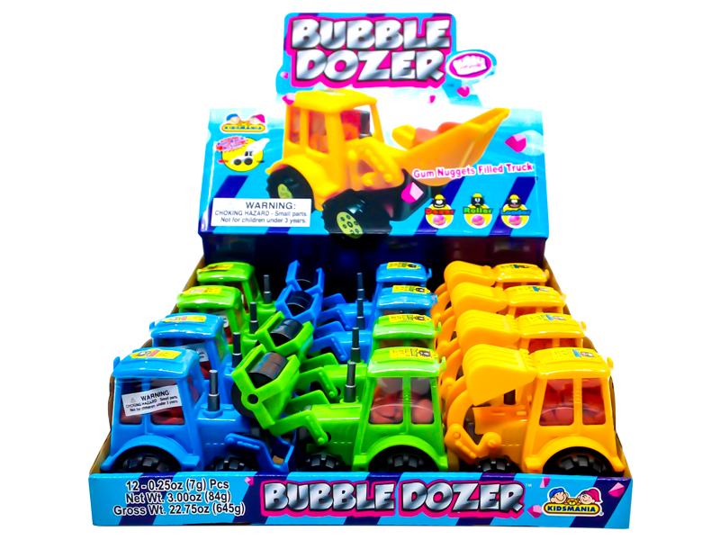 Kidsmania Bubble Dozer Bubblegum Filled Construction Trucks 12ct-online-candy-store-532