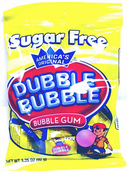 Dubble Bubble Sugar Free Original Twist 3.25oz Peg Bag 12ct