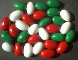 Capco Red, Green, & White Christmas Jordan Almonds 10lb-online-candy-store-3719C