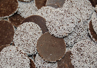 Kargher Maxi Dark Chocolate Nonpareils with White Seeds 25lb