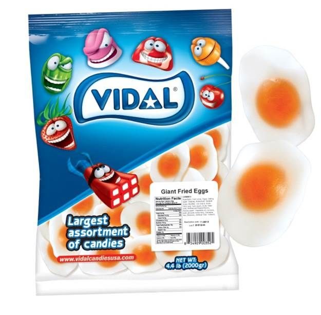 Vidal Gummi Giant Fried Egg 4.4lb-online-candy-store-11056