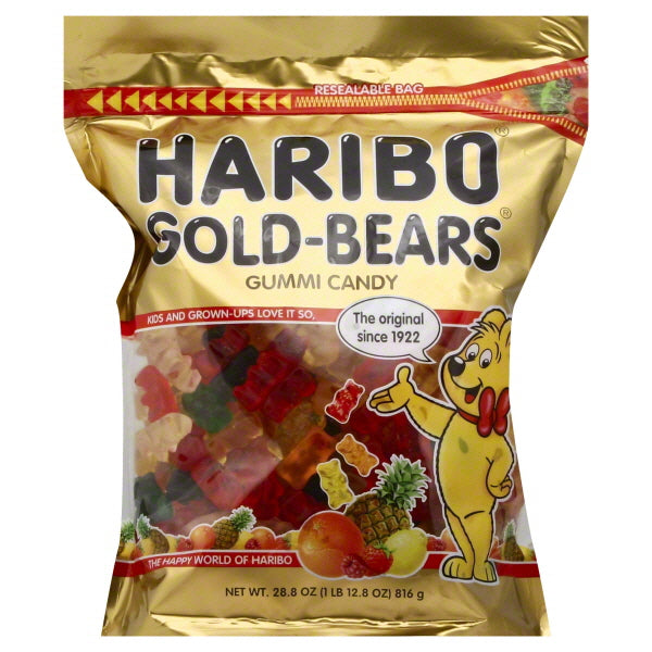 Haribo Gold Bears 28.9oz Resealable Bag