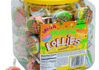 Tropical Mega Double Smarties Lollipops Jar 60ct