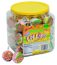 Tropical Mega Double Smarties Lollipops Jar 60ct-online-candy-store-306