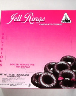 Joyva Dark Chocolate Covered Raspberry Rings 5lb