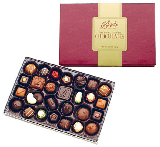 Asher Milk And Dark Assorted Majestic Boxed Chocolates 15oz 12ct-online-candy-store-59950