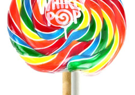 Adams & Brooks Rainbow Whirly Pops 10oz 18ct