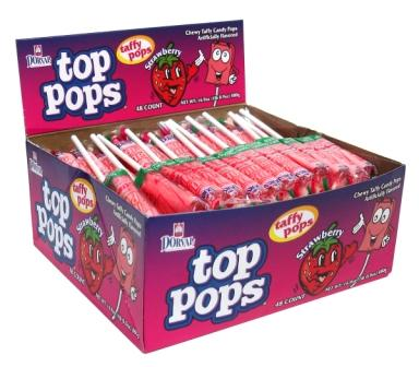 Dorval Strawberry Top Pops 48ct-online-candy-store-25525