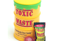 Toxic Waste Yellow Drums Assorted Super Sour Candy 1.7oz 12ct