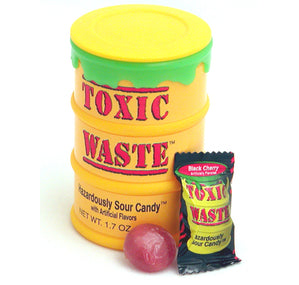 Toxic Waste Yellow Drums Assorted Super Sour Candy 1.7oz 12ct-online-candy-store-7410
