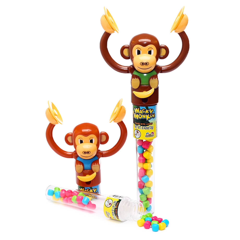 Kidsmania Wacky Monkey Banging Cymbals Candy Toy 12ct-online-candy-store-677