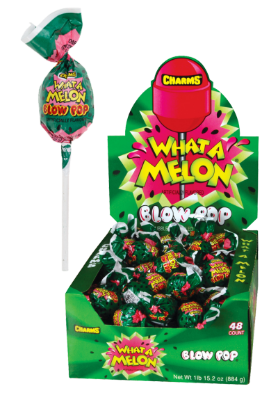 Charms Blow Pops What A Melon Watermelon Flavor 48ct