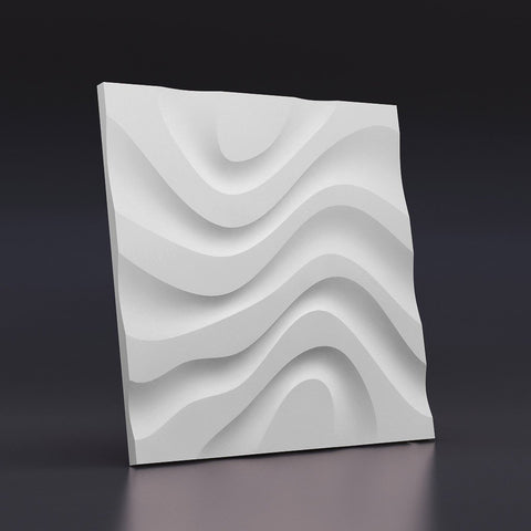 """Dry Stream"" 3D Wall Panel Model 07, [shop-name]"