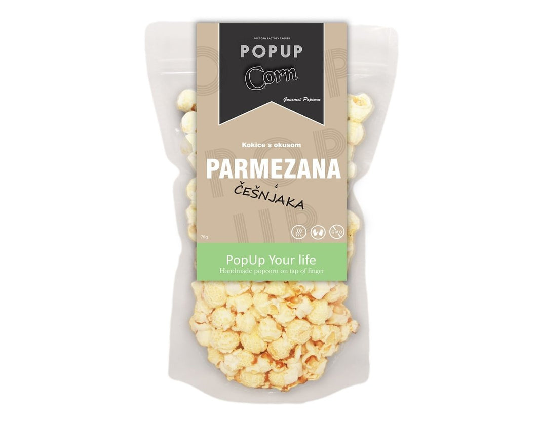 Gourmet POP Corn - Parmesan and Garlic - Popup