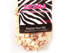 Load image into Gallery viewer, Gourmet POP Corn - 'ZEBRA' (Dark and white chocolate) - Popup
