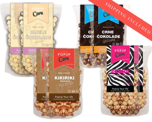 GOURMET Sweet package DOUBLE (8 bags - 2 of each) + SHIPPING INCLUDED - Popup