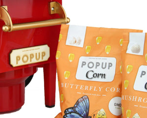 PopUp Corn Air popping machine Special edition + 200g Butterfly and Mushroom corn - Popup
