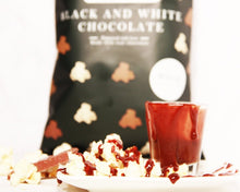 Load image into Gallery viewer, Ready2shelf box - 16 bags PopUp Corn Black and White Chocolate - Popup